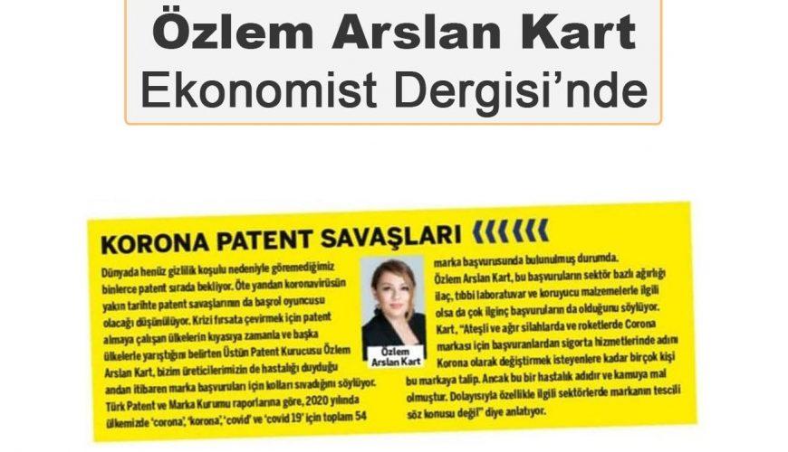 Özlem Arslan Kart Ekonomist Dergisi'ne Yazdı